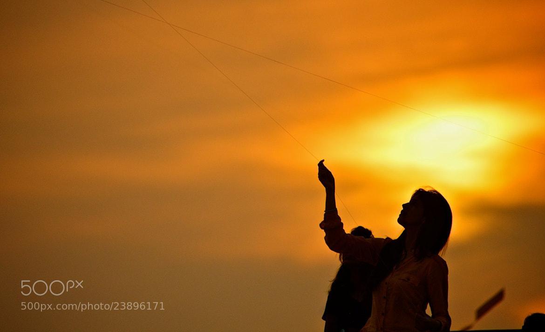 Photograph Kite flying festival, Makar Sankranti, Uttarayan 2013 by Ashit Desai on 500px