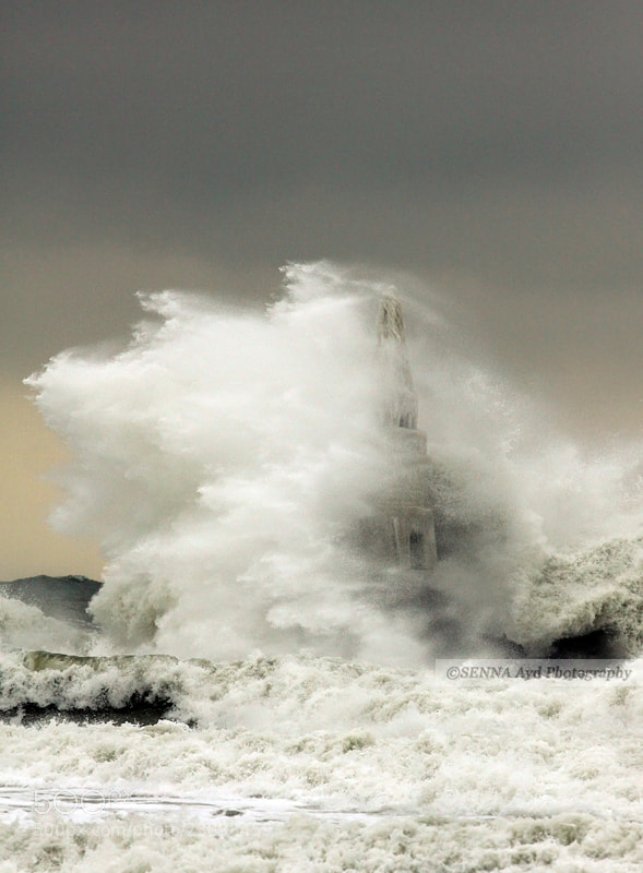 Photograph Storm v/s Lighthouse by Senna Ayd on 500px