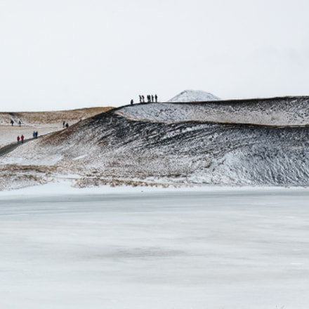Skútustaðir pseudo craters, Iceland.