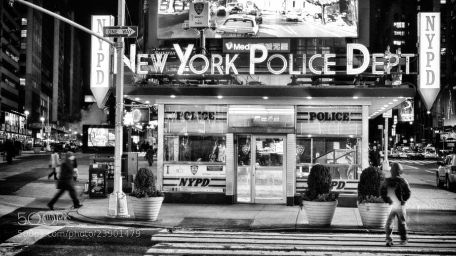 Photograph Police Station in Times Square by Richard Harrington on 500px