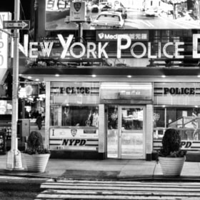 Police Station in Times Square by Richard Harrington (rhedpixel)) on 500px.com