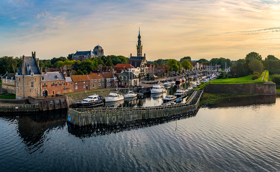 Skyline Veere from the Boat by Martijn Kraak on 500px.com