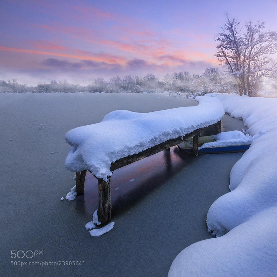 Photograph Clay pits, winter scene I by Gorazd Kranjc on 500px