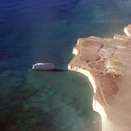 Rada en la costa de Comodoro Rivadavia