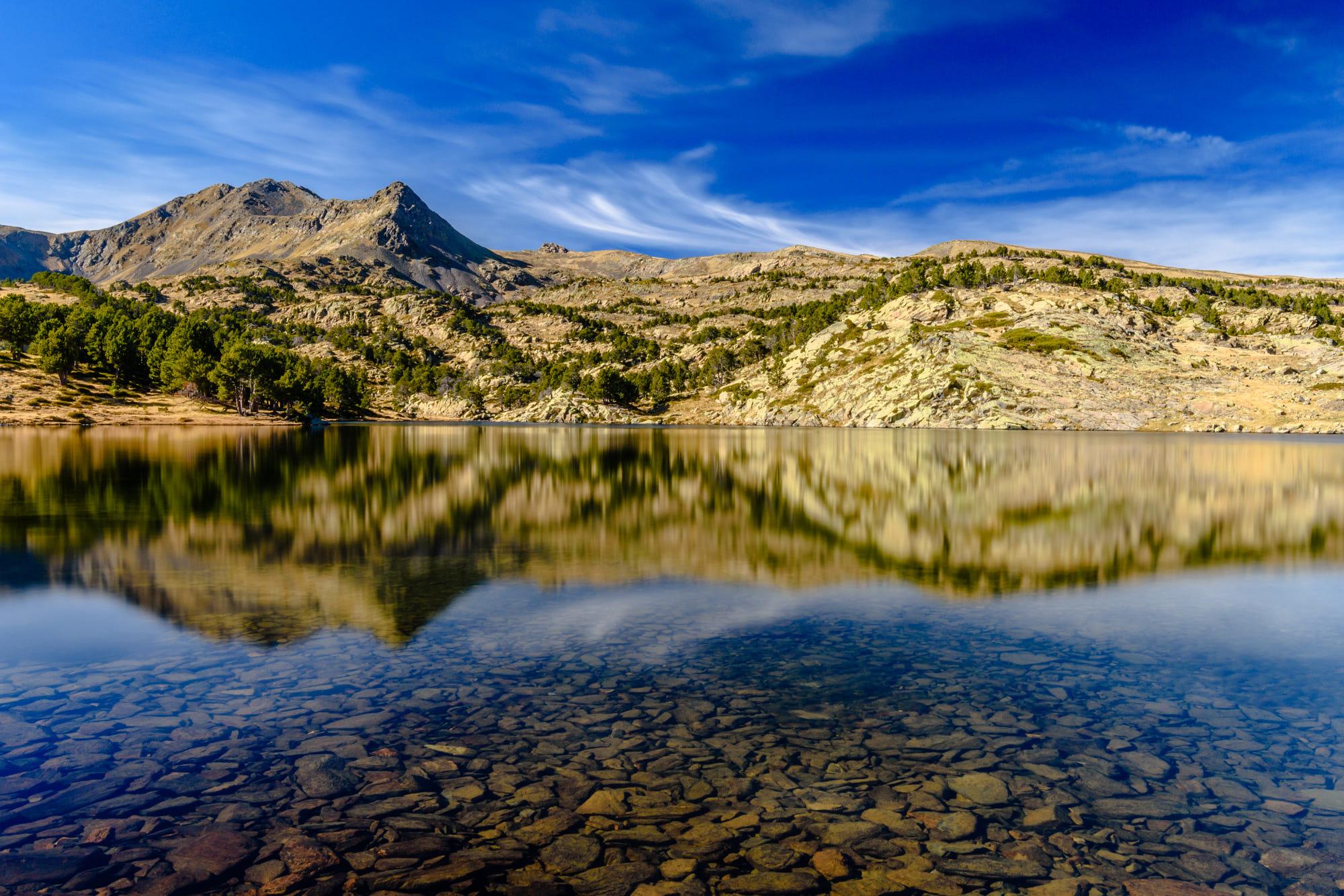 Lake reflections at Camporells
