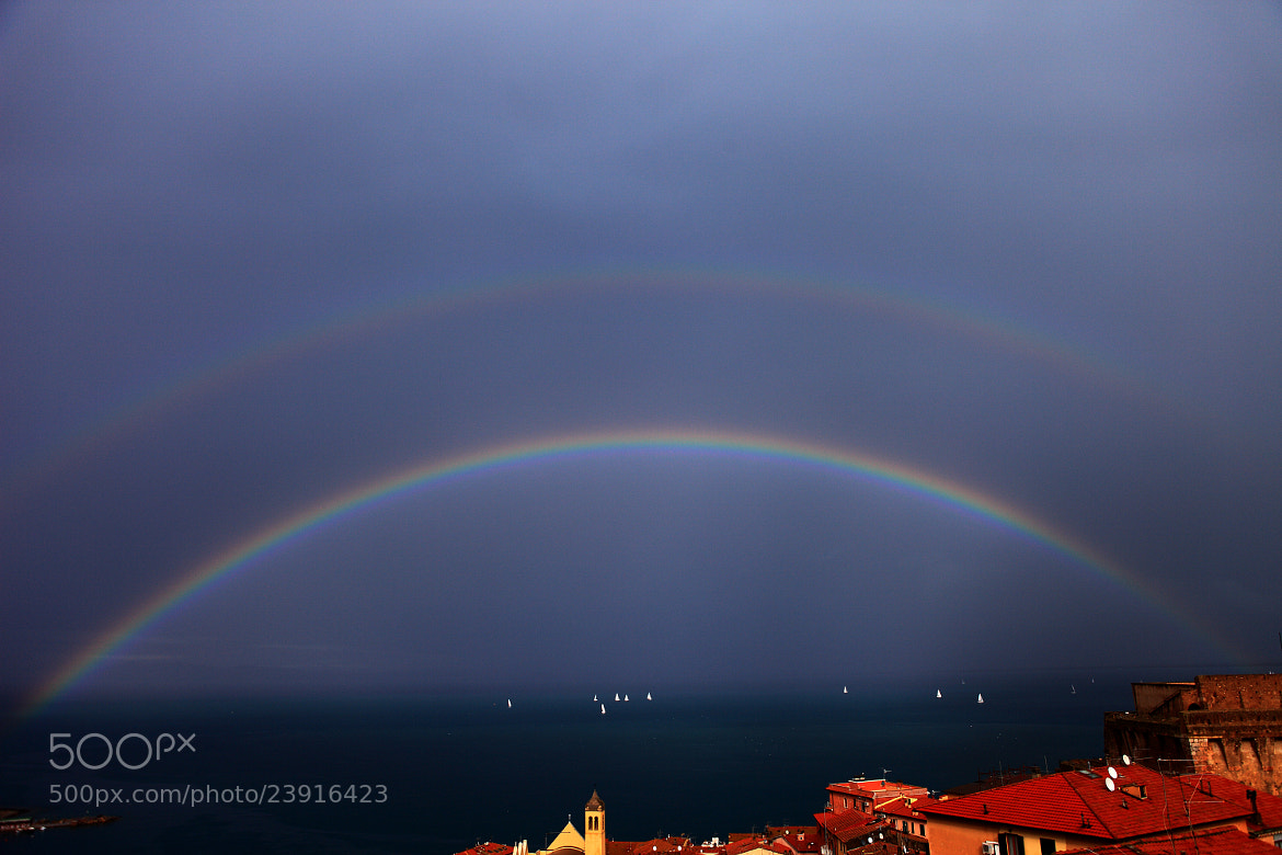 Photograph Double rainbow..double luck? by Giuliana Angelucci on 500px