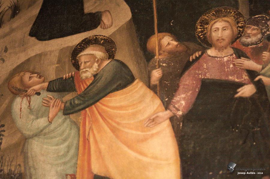 Mural de la Capella de Sant Miquel, al Monestir de Pedralbes.