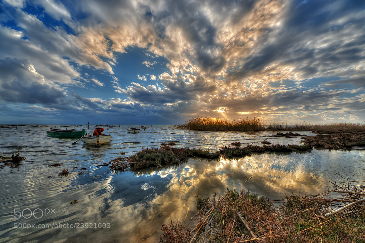 Photograph Sunset,boats and reflection... by Hakki Dogan on 500px