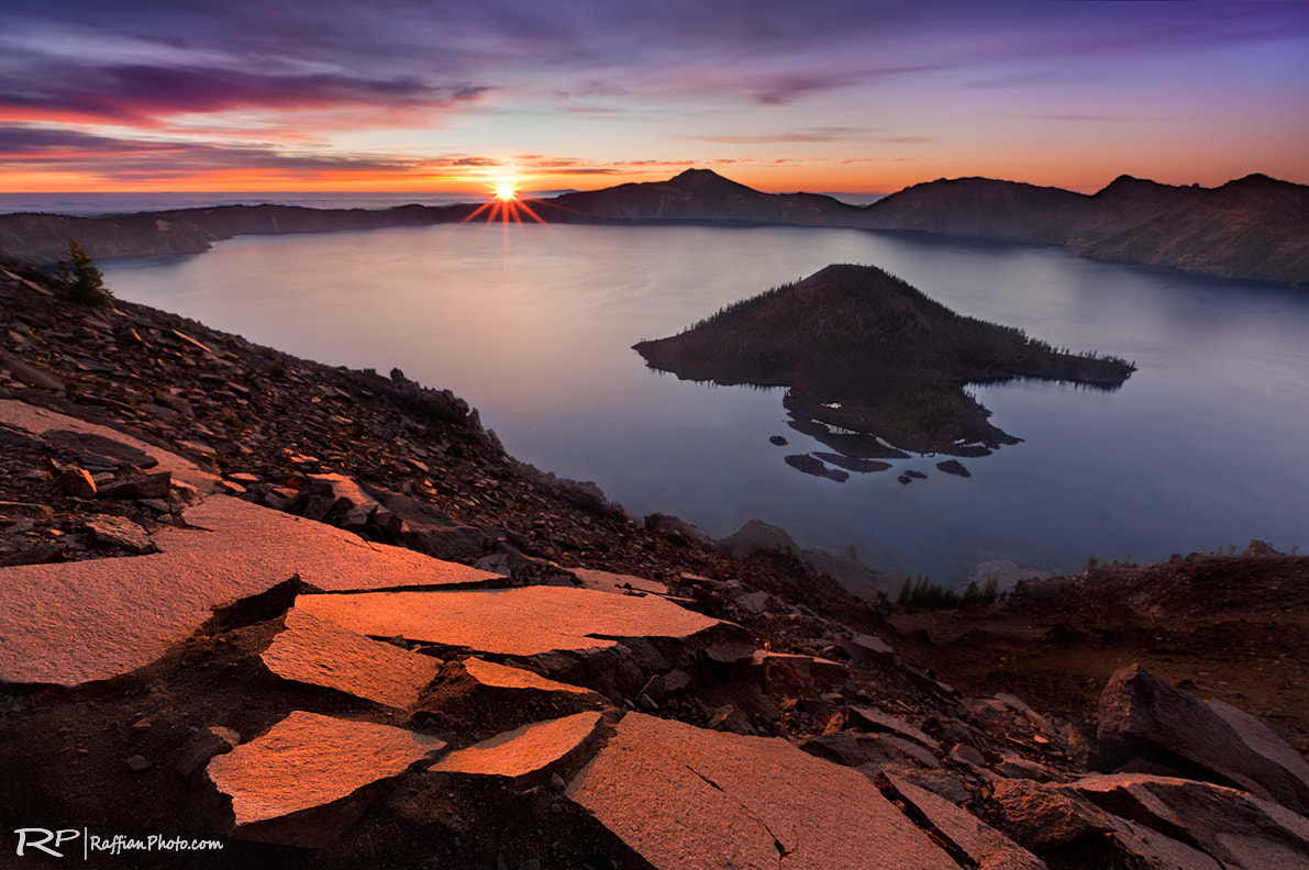 Photograph First Light, Crater Lake by Raffi Basmajian on 500px