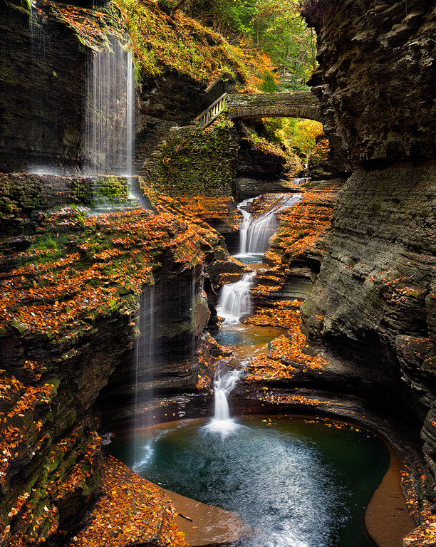 Photograph Watkins Glen Rainbow Falls In Autumn by Steve Perry on 500px