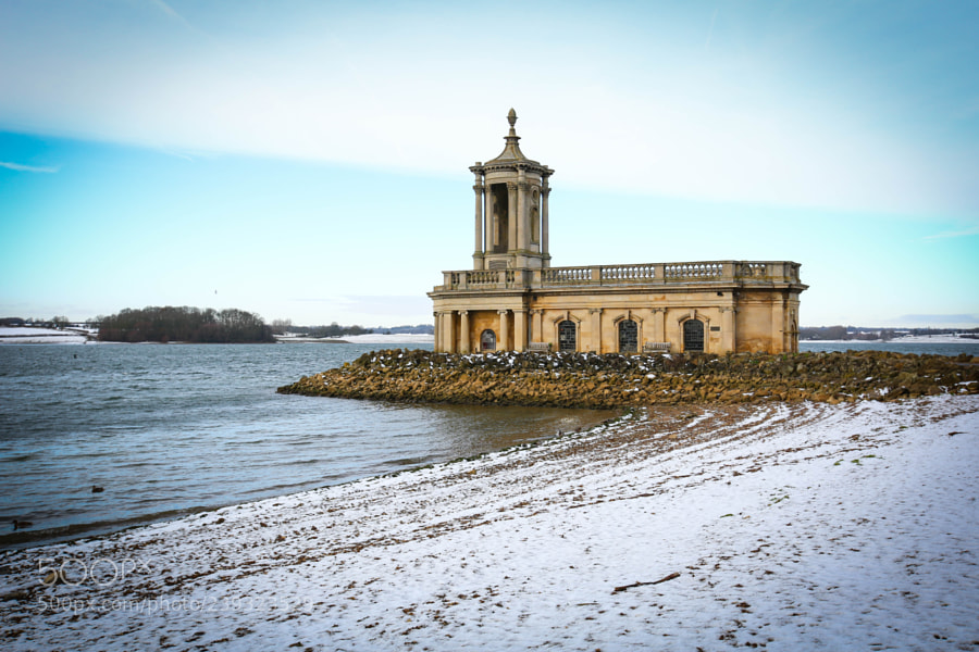 Normanton Church in the snow