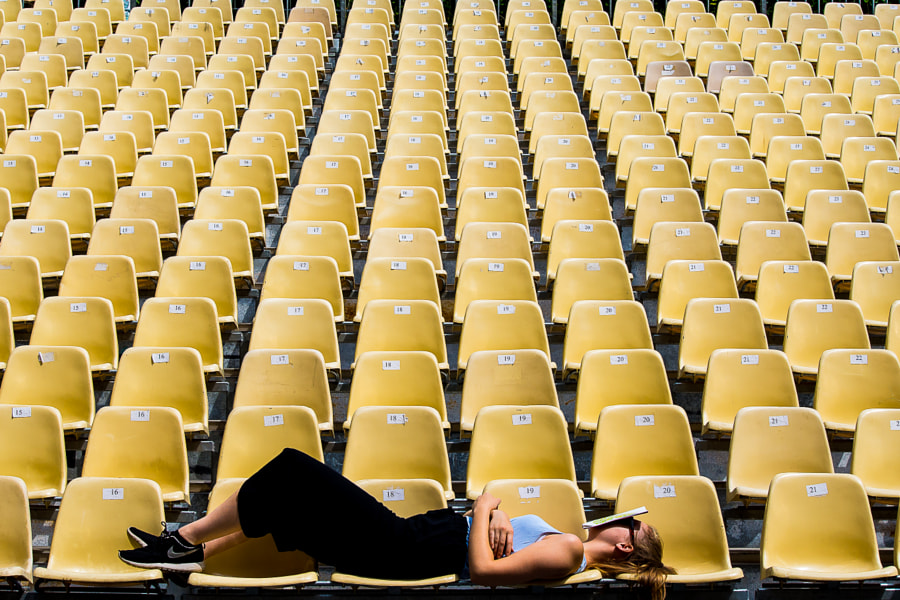 yellow seats by rich p blake on 500px.com