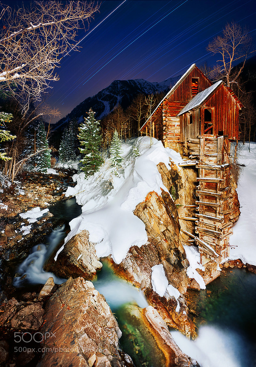 Photograph Crystal Mill Trails Winter by Michael Mcconnell on 500px