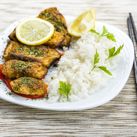 Fish in herbs seasoned by Robert Latawiec