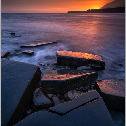 After sunset at Kimmeridge Bay
