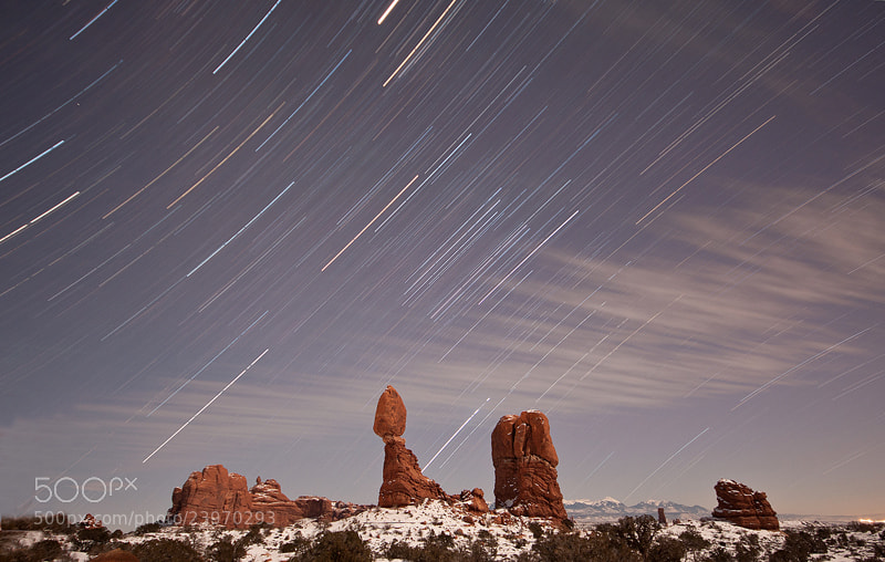 Photograph Balanced Rock Starscape by Nick Bell on 500px