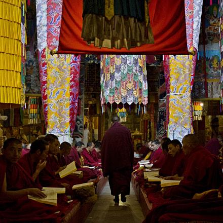 Inside Buddhist Monastery