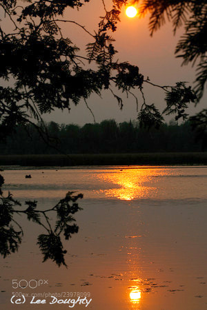 Photograph Sunset in the Kawartha Lakes by Lee Doughty on 500px