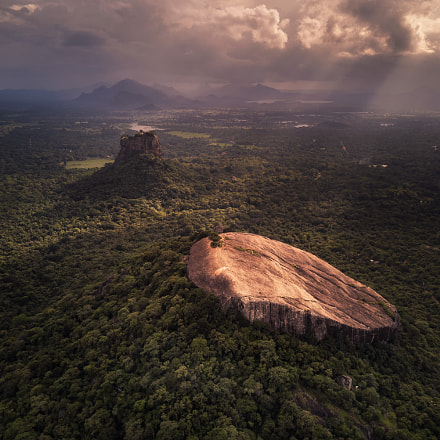 Storm at Sigiriya, Sri Lanka