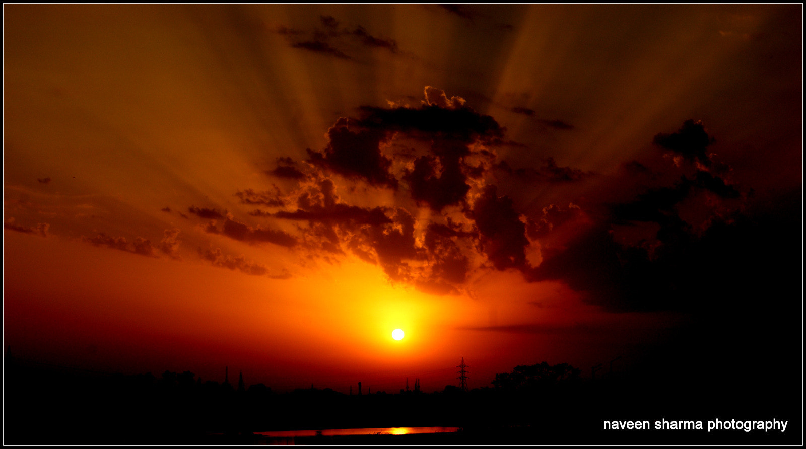 Photograph Sun setting over rio Gomti by naveen sharma on 500px