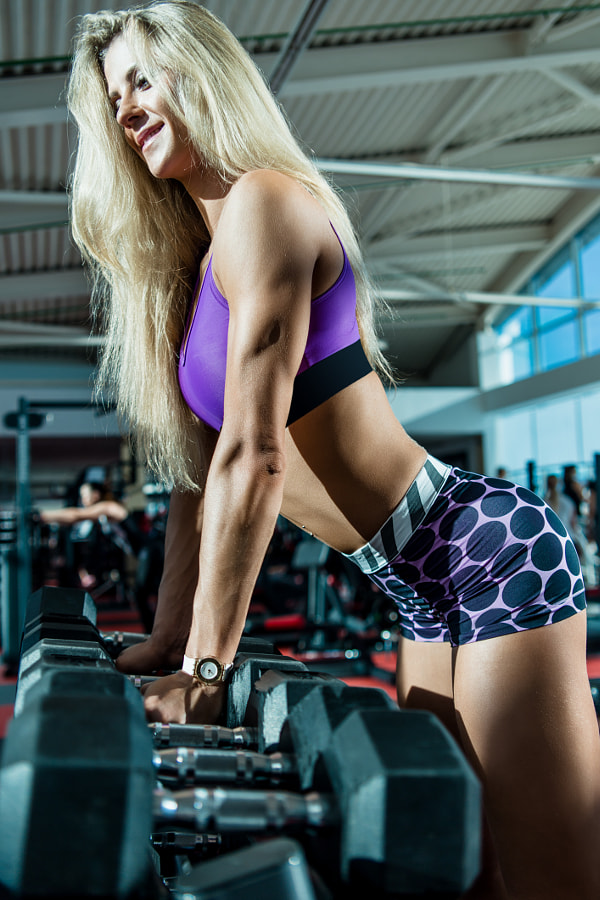 Woman in gym by Николай Левченко on 500px.com