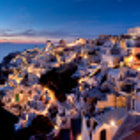 Постер, плакат: Oia after sunset