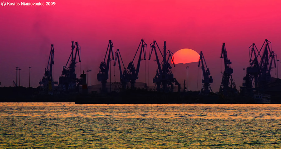 Photograph Crane's Sunset  by Kostas  Nianiopoulos on 500px