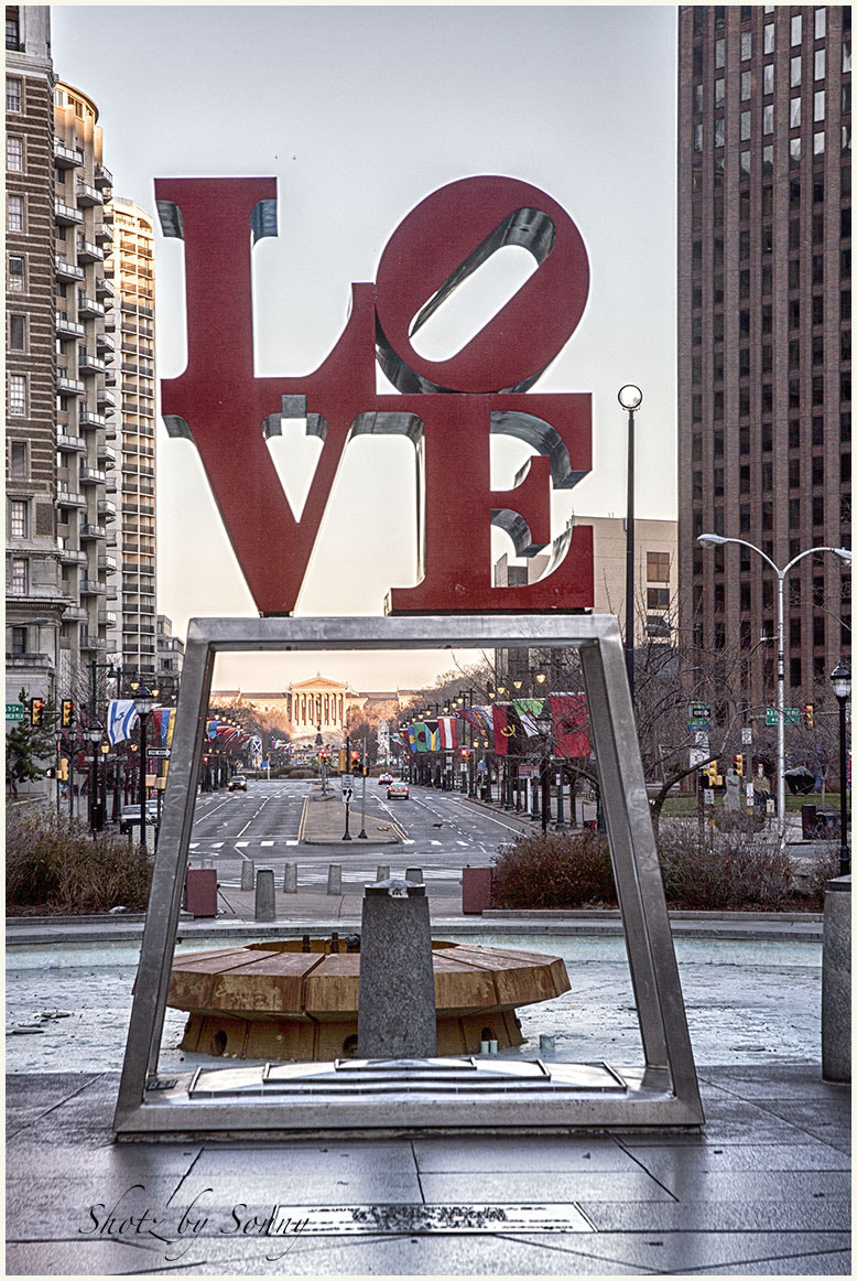 Photograph Love Statue, Phila. PA by Sonny Hamauchi on 500px