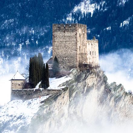 Laudegg Castle Ladis by Day