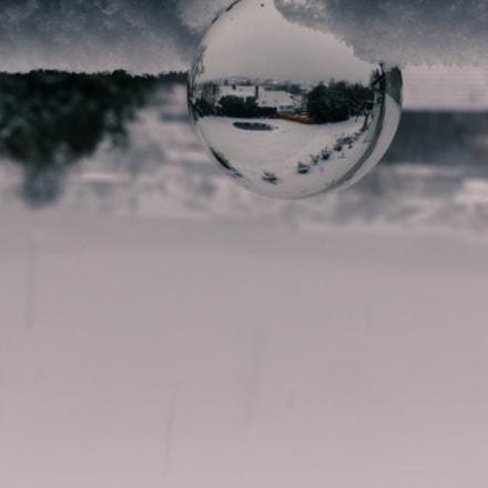 winter glass ball