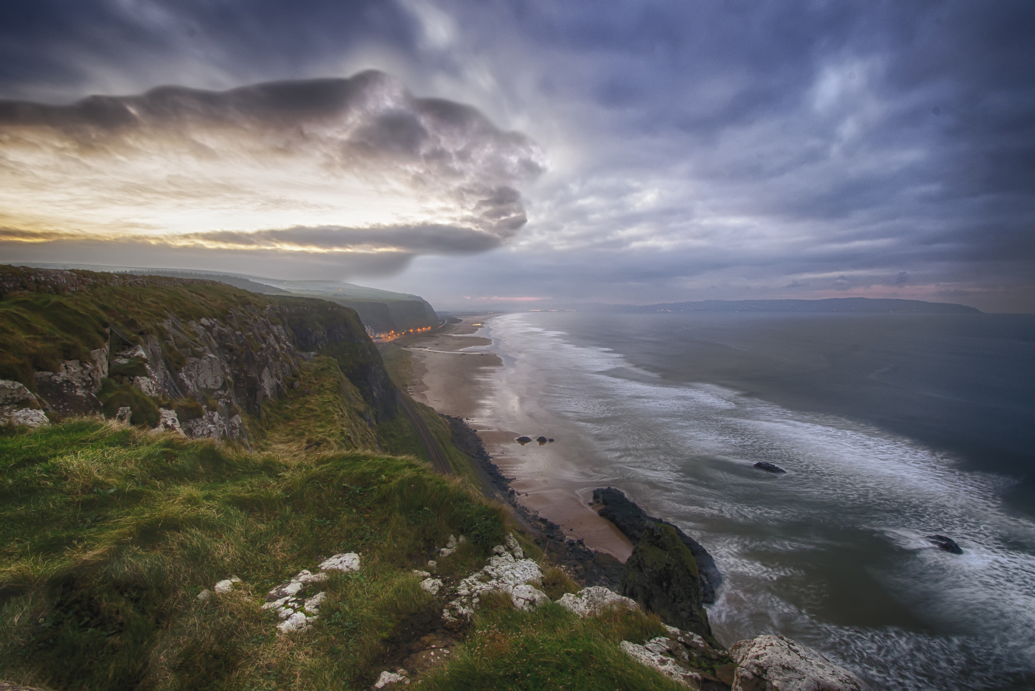 Photograph DOWNHILL BEACH FROM ABOVE by Sam Smallwoods on 500px