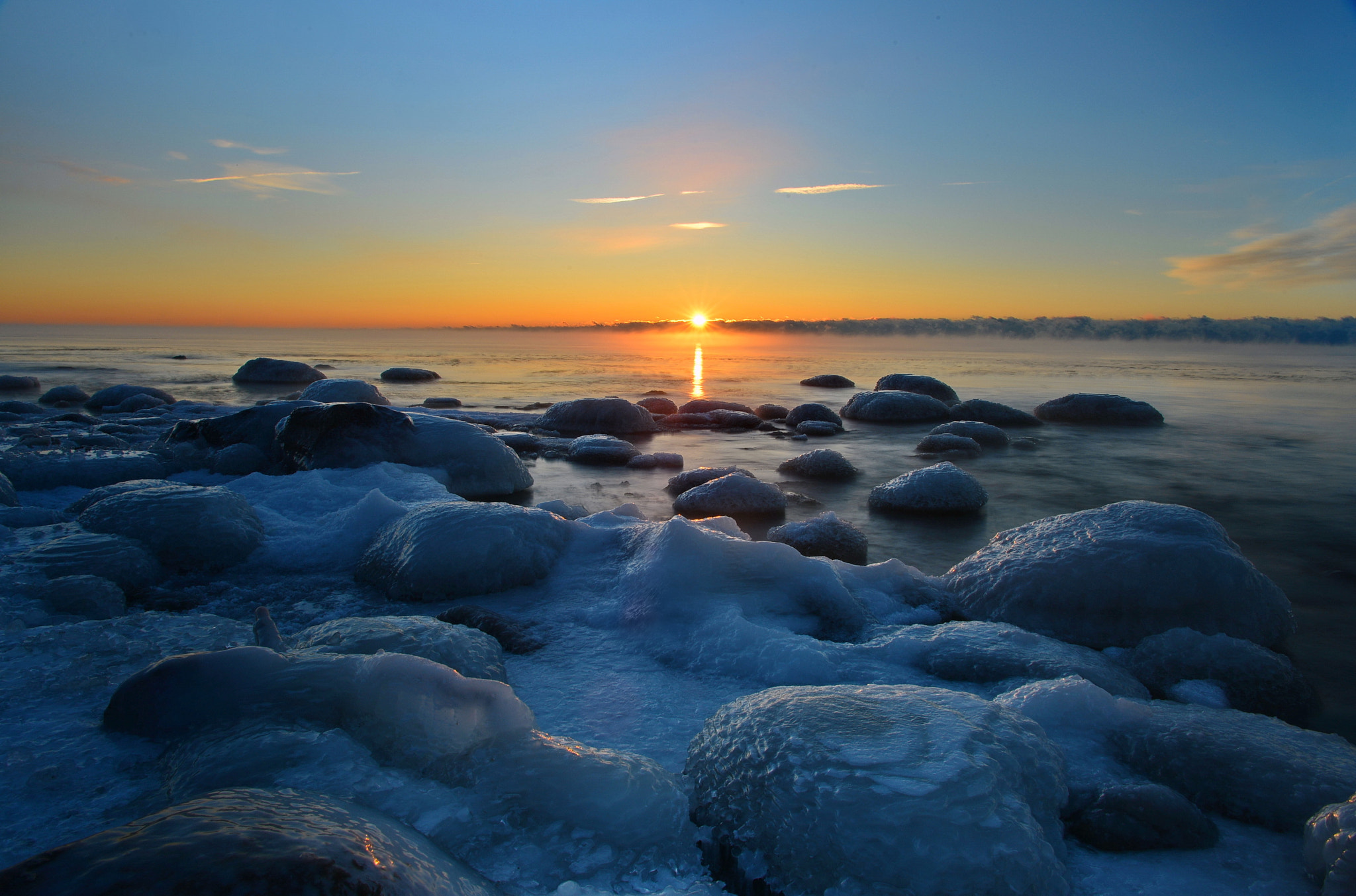 Photograph Cold Sunrise(close to -27C) by AZ Imaging on 500px