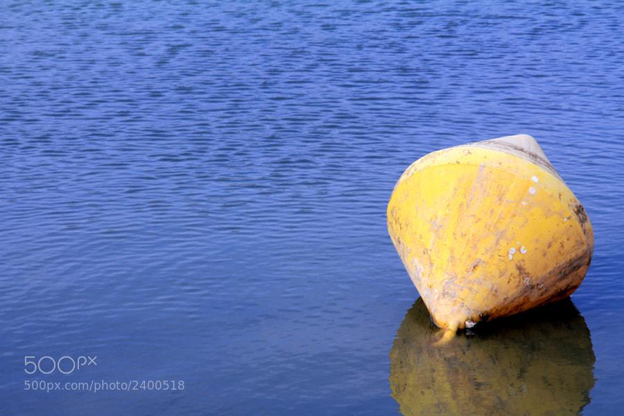 En la desembocadura del río Guadalhorce, hay esta boya para... no se que.