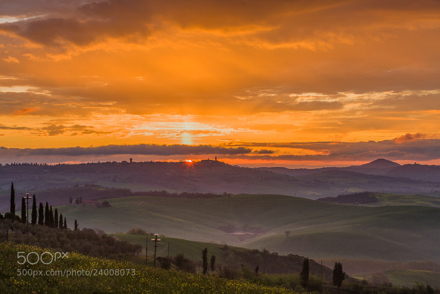 Photograph Sunset over Pienza by Hans Kruse on 500px