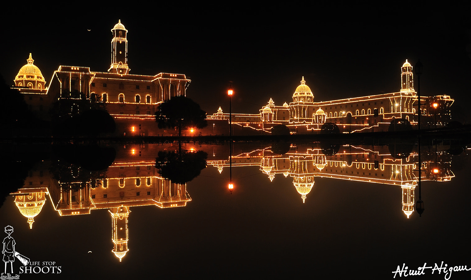 Photograph Reflection On Top North And South Block... by Nimit Nigam on 500px