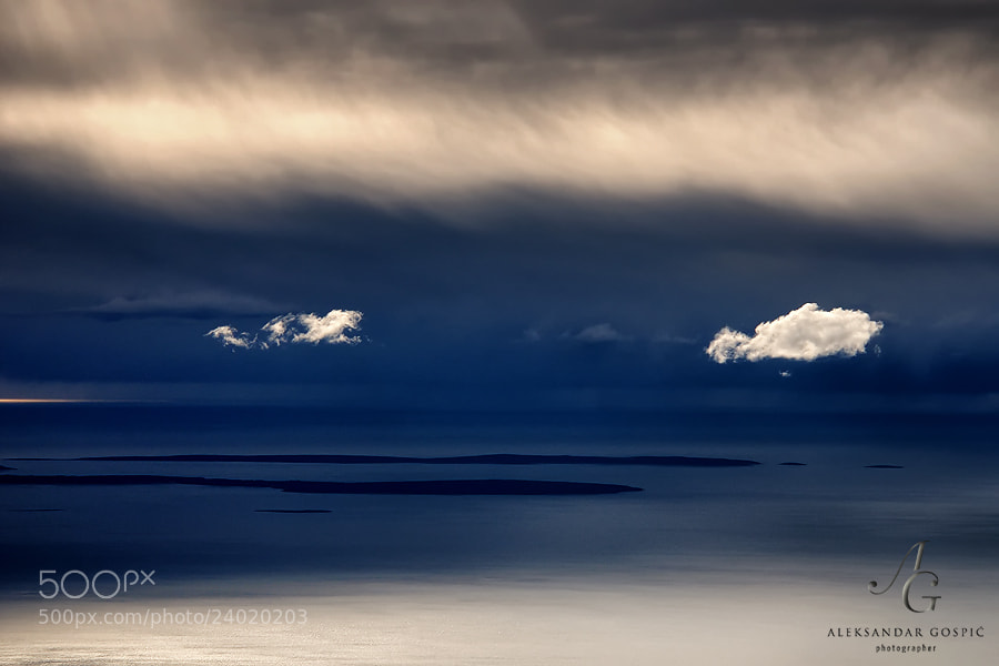 Sometimes even nature feels the need to make -_- expression  Storm above the Adriatic, viewed from Velebit mtn