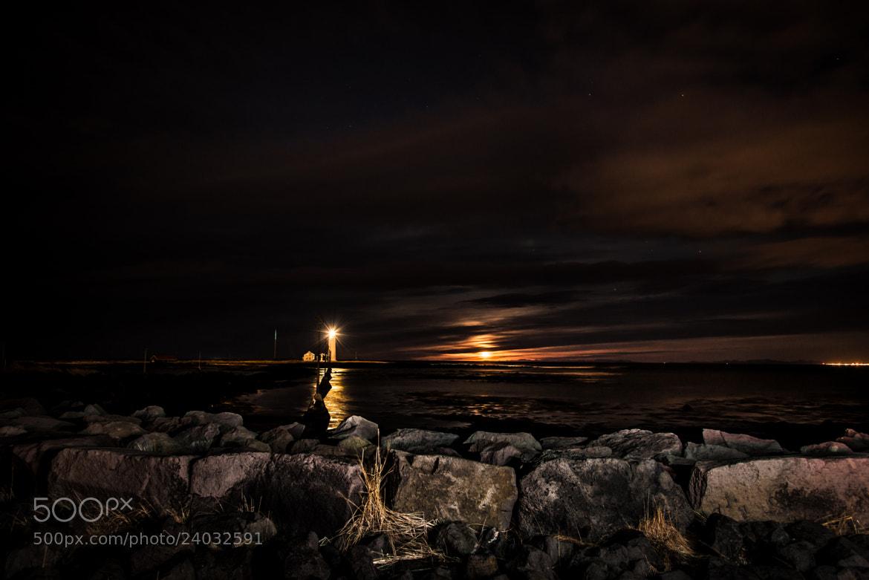 Photograph The lighthouse, Grótta by Gísli Hjálmar Svendsen on 500px