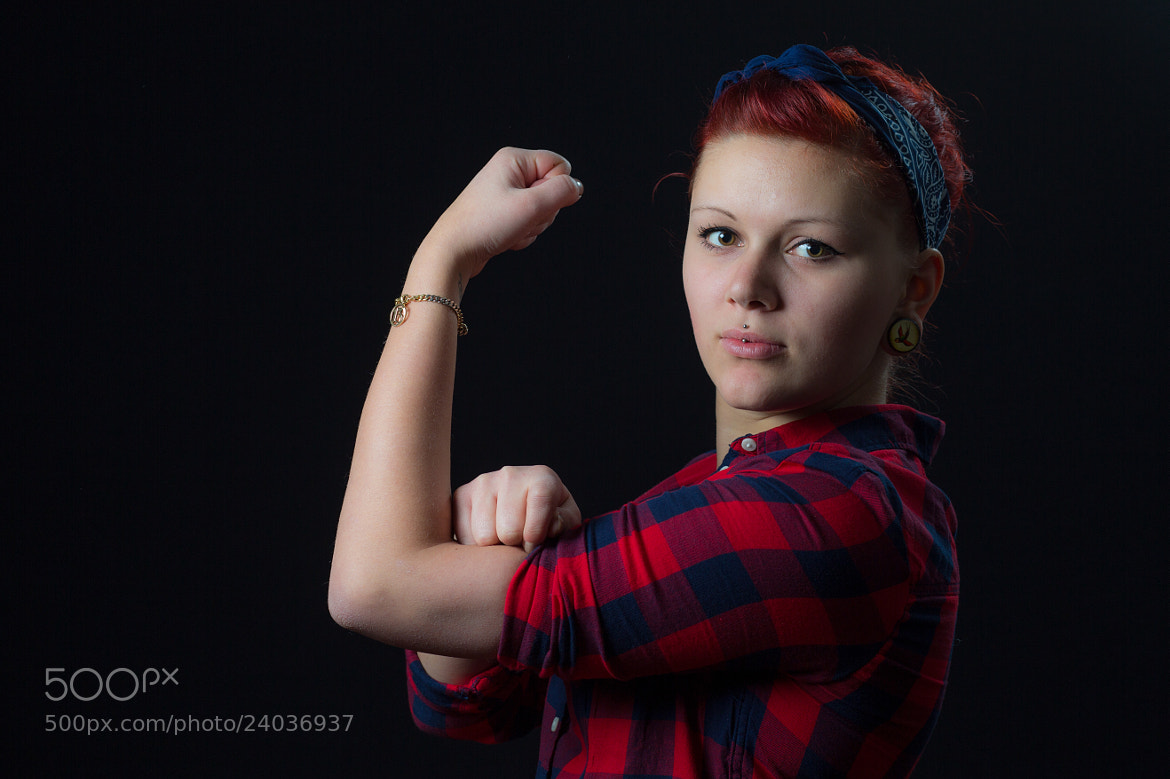 Photograph Elly the Riveter by jan vt on 500px