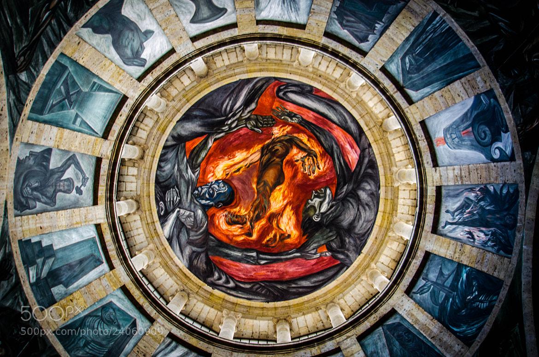 Photograph el hombre de fuego de jose clemente orozco by for El hombre de fuego mural de jose clemente orozco
