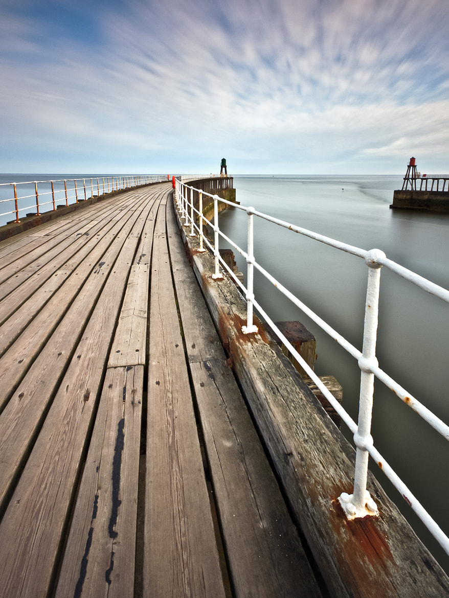 Photograph Whitby Piers by Michael James Combe on 500px