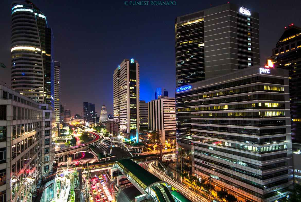 Photograph Sathorn Night by Puniest Rojanapo on 500px
