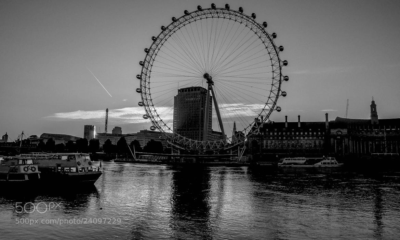 Photograph The London Eye B+W by julian john on 500px