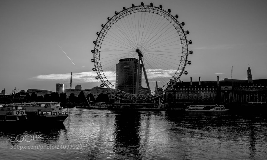 Photograph The London Eye B+W by julian john on 500px