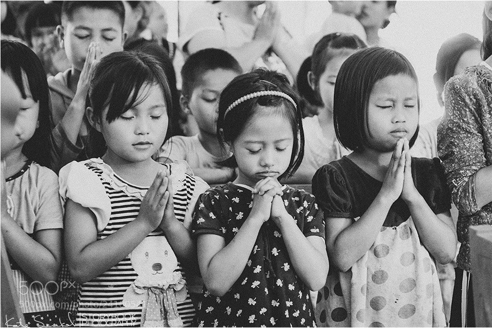 Photograph Thailand Children Prayer by Kate Senekal on 500px
