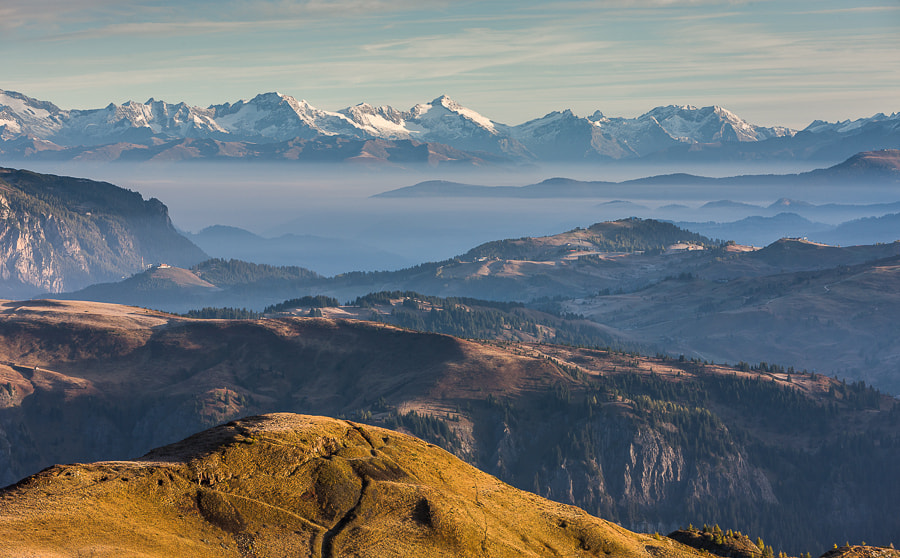"""<a href=""""http://www.hanskrusephotography.com/Workshops/Dolomites-October-7-11-2013/24503434_Pqw9qb#!i=2335381768&k=F5NBhFb&lb=1&s=A"""">See a larger version here</a>  This photo was taken during a photo workshop I was leading in the Dolomites October 2010."""