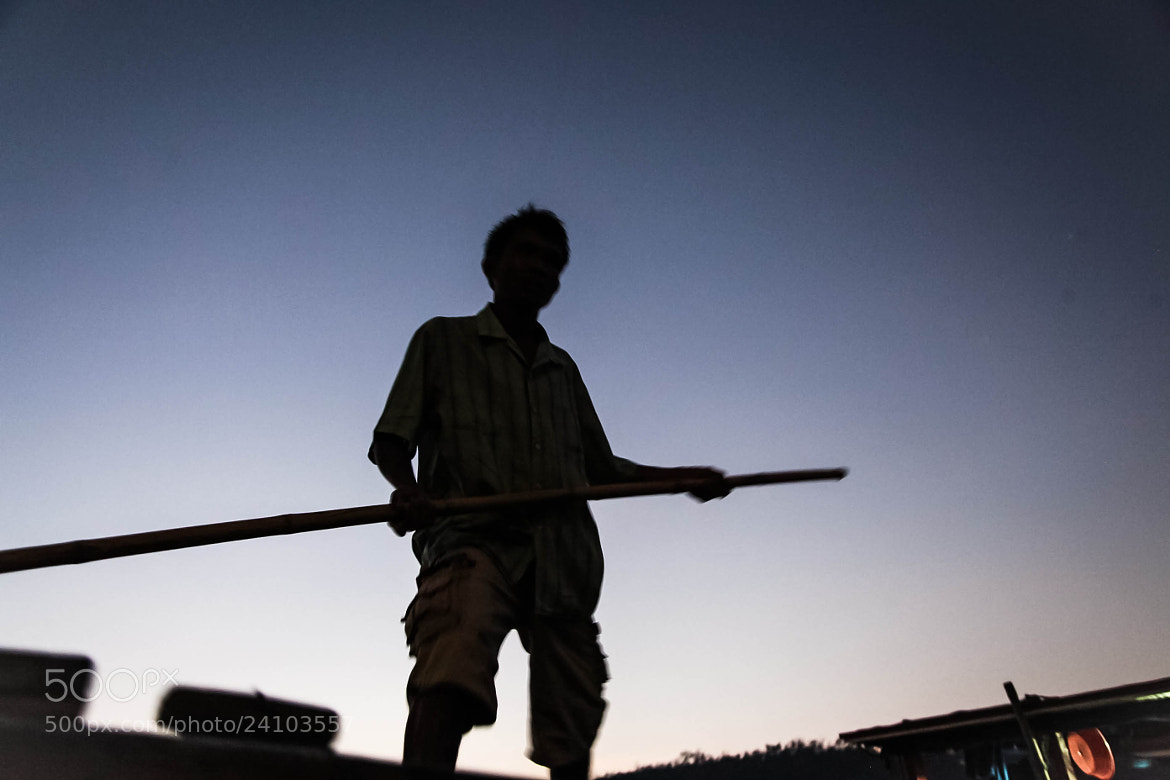 Photograph Boatman's Silhouette by Mahesh Krishnamurthy on 500px