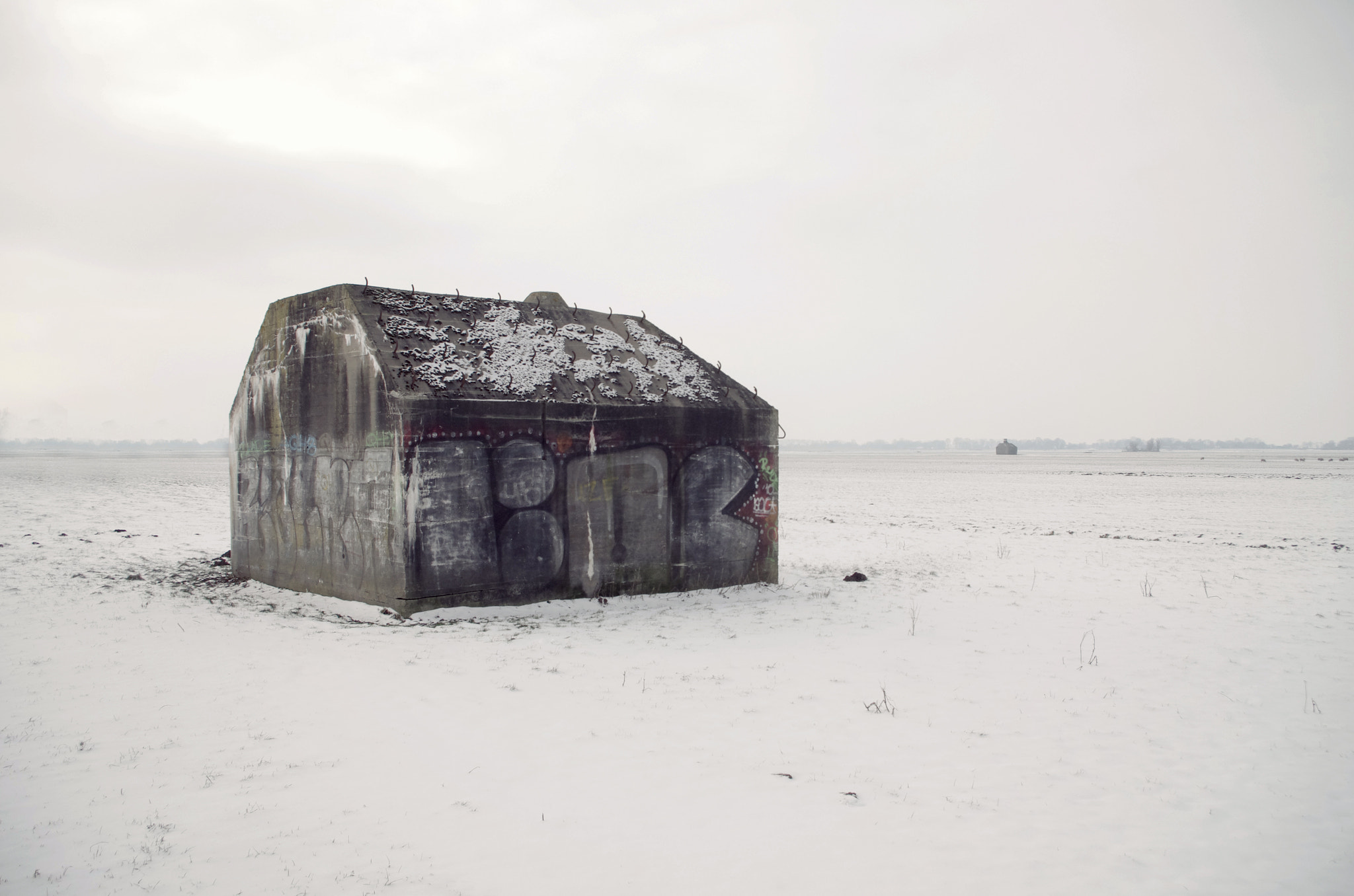 Photograph ww 2 bunkers in the snow by hans hoeben on 500px