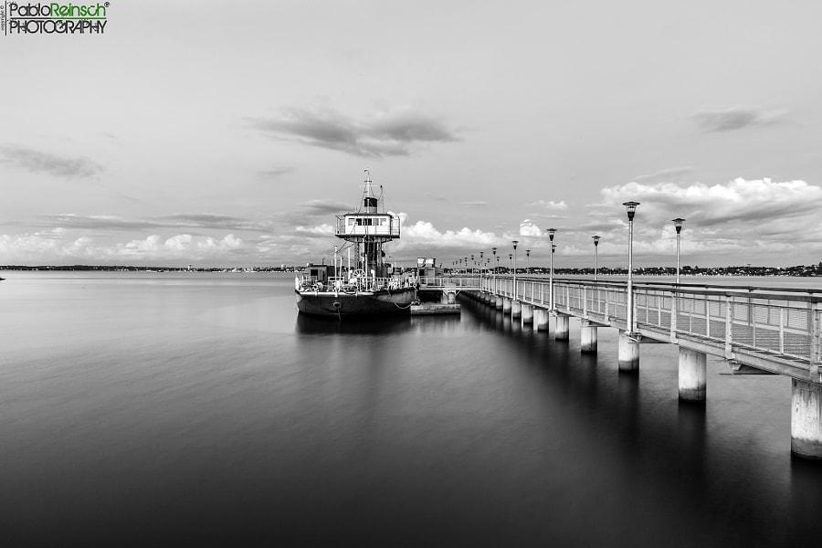 A ship on the asphalt.-