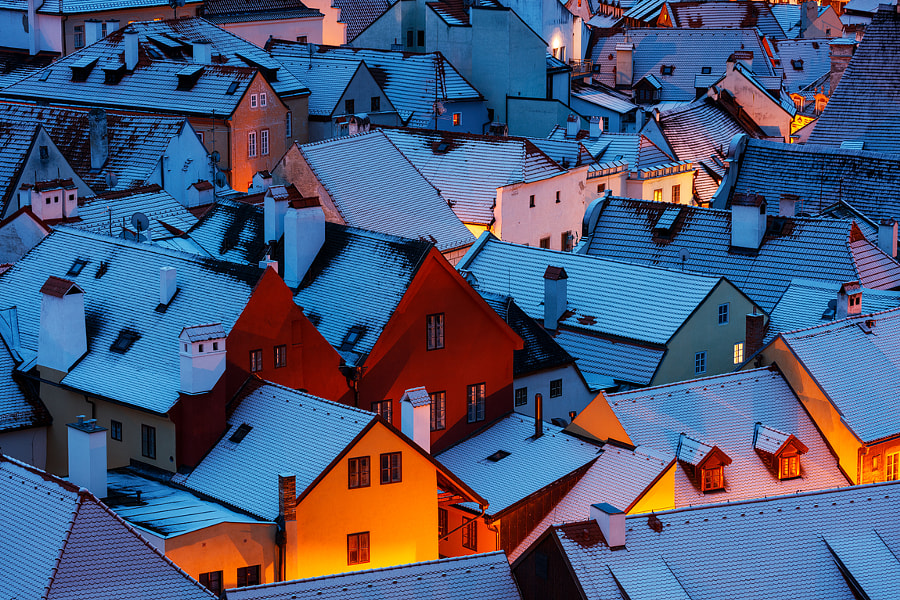 Snowy Rooftops by Martin Rak on 500px.com