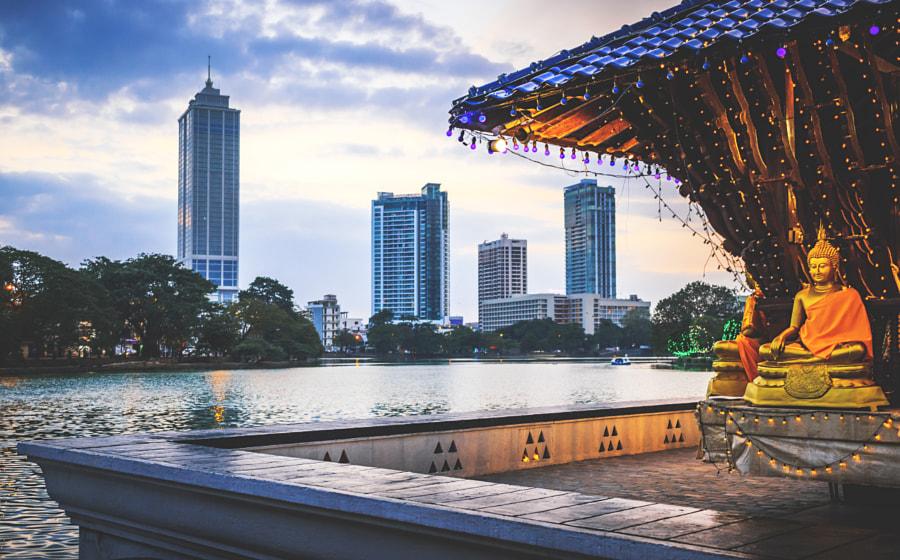 The Seema Malakaya, Beira Lake & Colombo City #3 by Son of the Morning Light on 500px.com